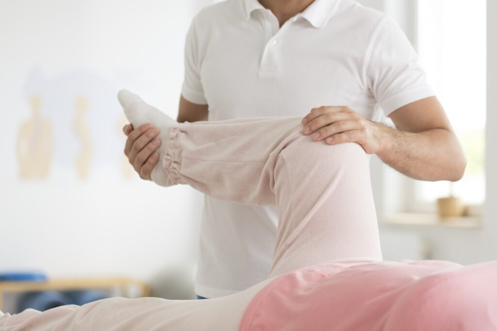 Easing pain in knee area