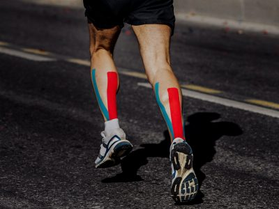 Kinesio Taping on Muscles Calf Runner